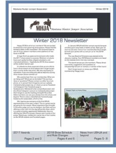 Winter 2018 Newsletter